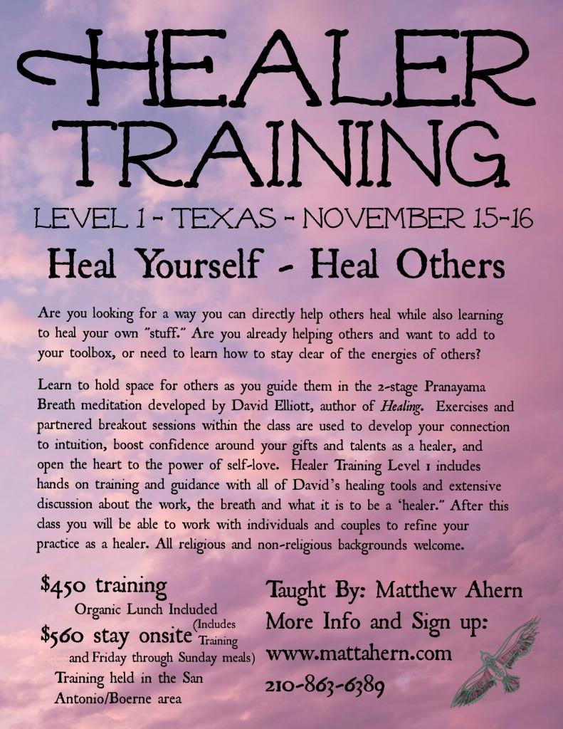 Healer Training Level 1 Boerne Matt final1