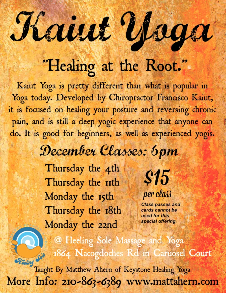 Kaiut Classes for December Heeling Sole