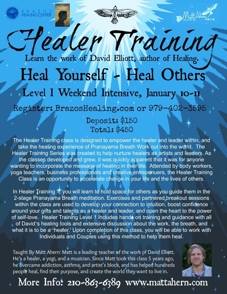 Healer Training Class Jan 10 11 matt brazes with DE