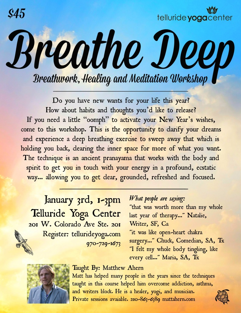TYC Breathe Deep New Years 2015 newest